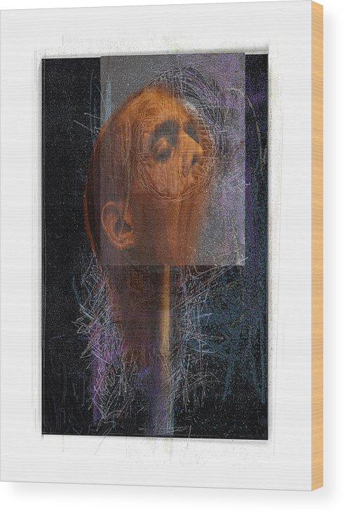 Portrait Wood Print featuring the digital art Popper by Nuff