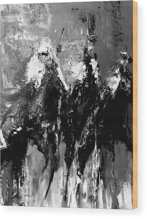 Wood Print featuring the painting 10 by Heather Roddy