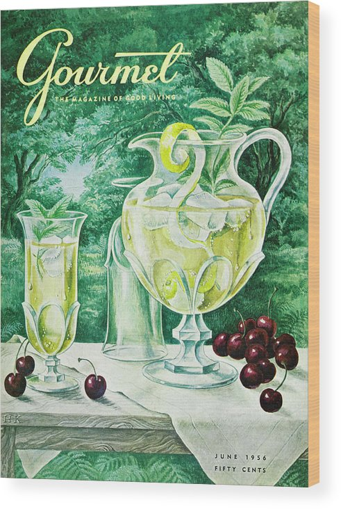 Food Wood Print featuring the photograph A Gourmet Cover Of Glassware by Hilary Knight