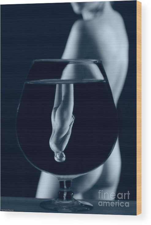 Female Nude Wood Print featuring the photograph Abstract Realities I by John Hermann