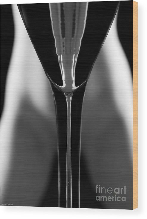 Female Nude Wood Print featuring the photograph Abstract Realities IIi by John Hermann