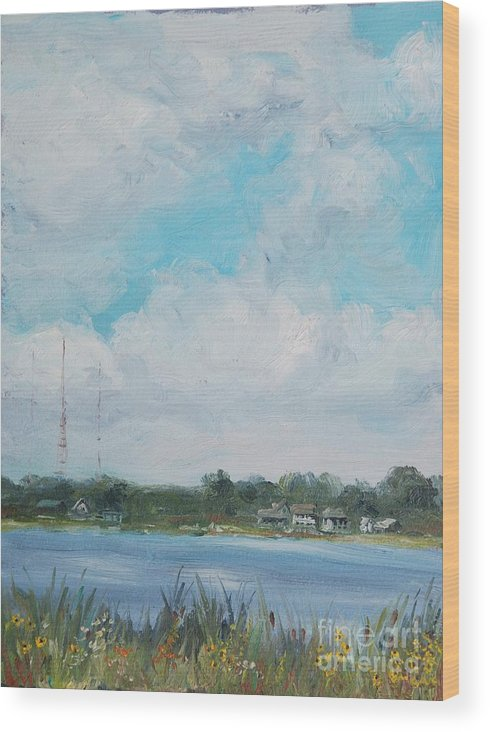 Landscape Wood Print featuring the painting Across Winona by Mike Yazel