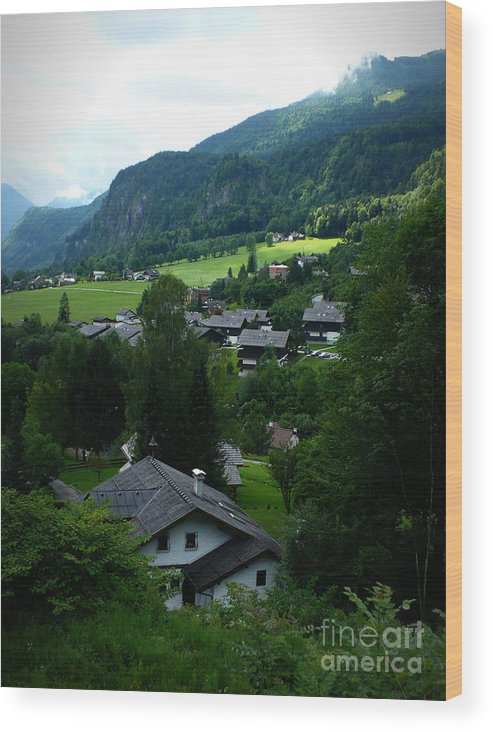 Austria Wood Print featuring the photograph Austrian Landscape by Carol Groenen