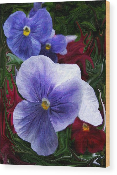 Flower Wood Print featuring the photograph Blue Boys by Jim Darnall