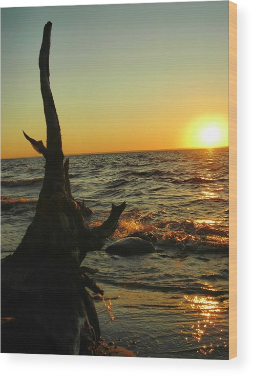 Sunset Wood Print featuring the photograph Castle On The Watch by Peter Mowry