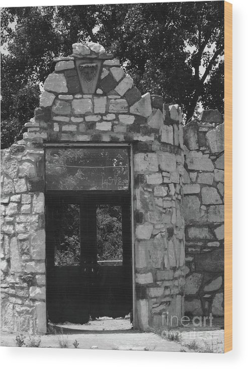 Doors Wood Print featuring the photograph Chained Doors by Elizabeth Donald