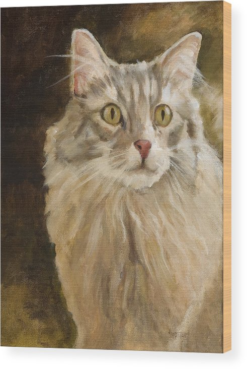 Animal Wood Print featuring the painting Chessie by Jimmie Trotter