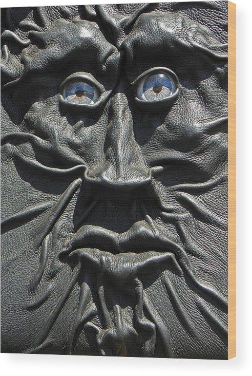 Digital Wood Print featuring the photograph Dark Man by Elizabeth Hoskinson