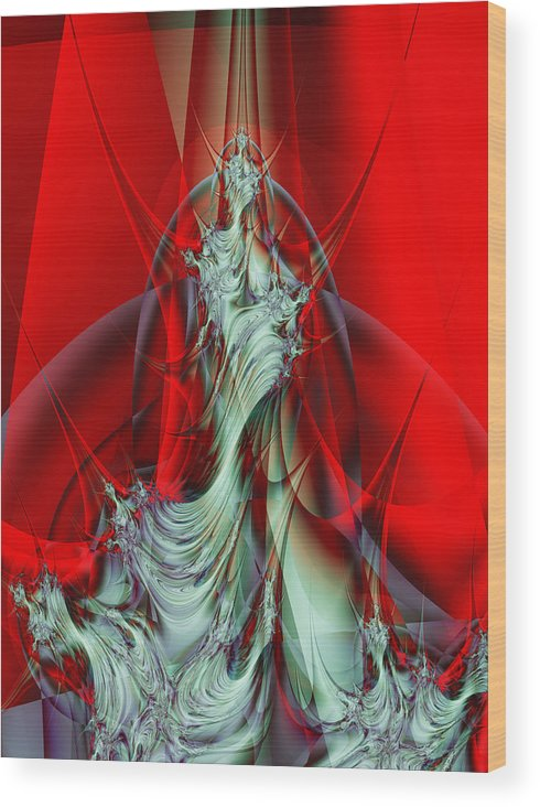 Fractal Wood Print featuring the digital art Diva by Frederic Durville