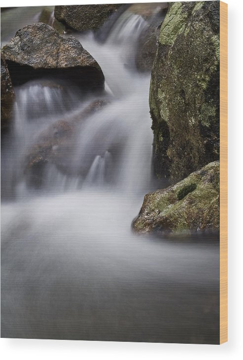 Stream Wood Print featuring the photograph Dreamy Stream by Jim DeLillo