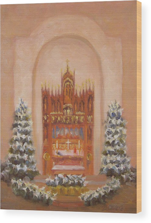 Church Wood Print featuring the painting Easter At St. Martins by Bunny Oliver