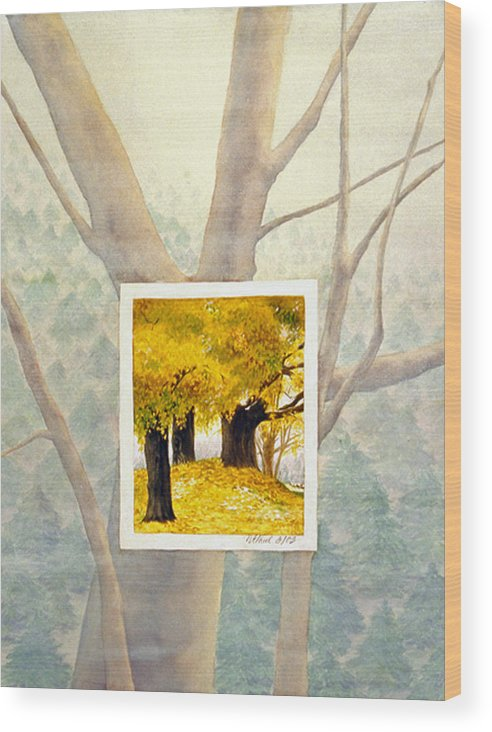 Autumn Wood Print featuring the painting Eastern Autumn by Nancy Ethiel