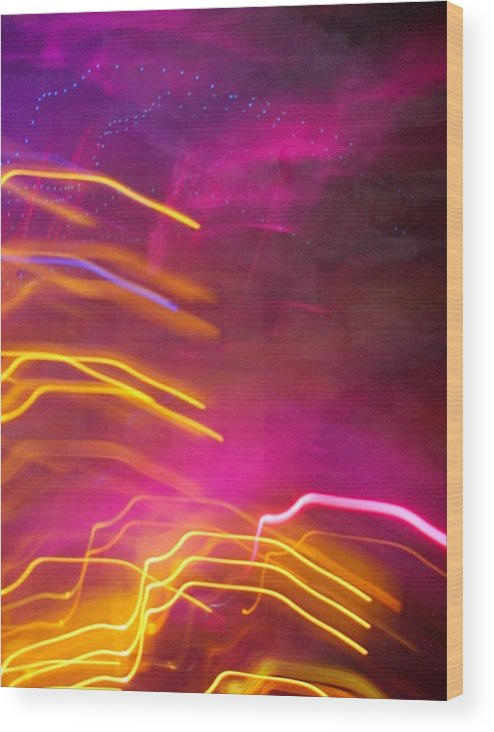 Abstract Wood Print featuring the photograph Fingers Of Light by Lessandra Grimley