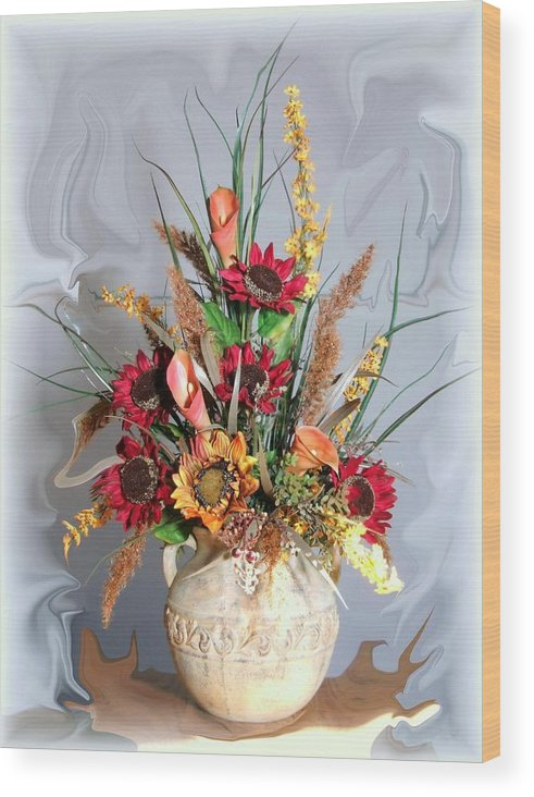 Floral Wood Print featuring the photograph Floral Arrangement by Jim Darnall
