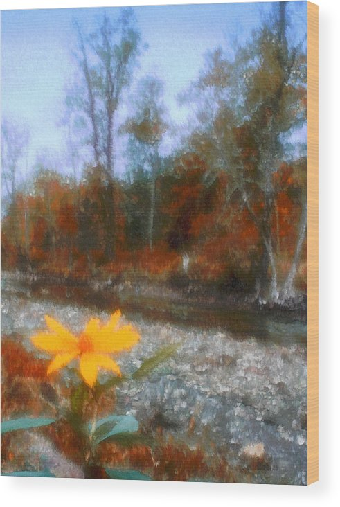 Autumn Wood Print featuring the photograph Goodbye Summer by Kenneth Krolikowski