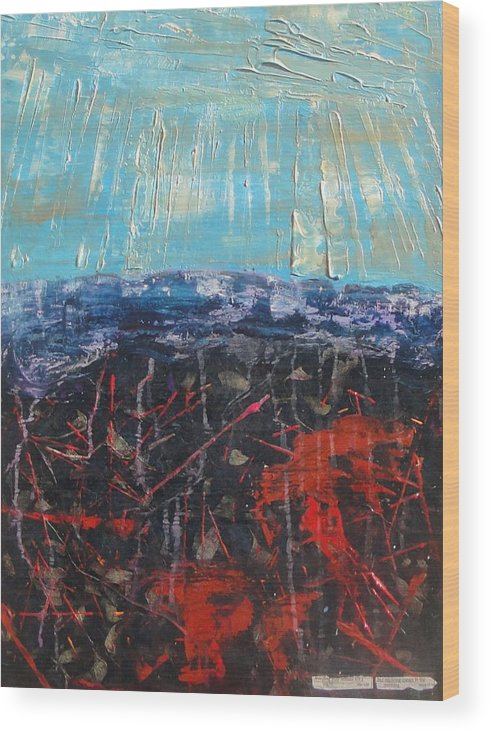 Wood Print featuring the painting Joy Comes In The Morning by Lisa Graham