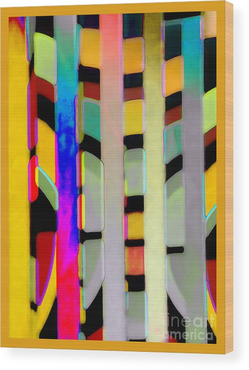 Abstract Wood Print featuring the photograph Just Color 2 by Linda Parker