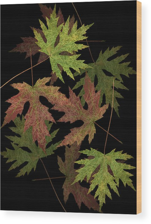 Leaves Wood Print featuring the photograph Leaves On Leaves by Marsha Tudor