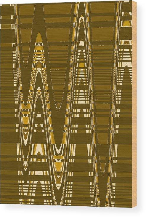 Moveonart Digital Gallery Lower Nob Hill San Francisco California Jacob Kanduch Wood Print featuring the digital art Moveonart New American Indian Architecture 2 1 by Jacob Kanduch