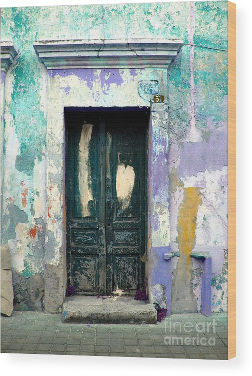 Darian Day Wood Print featuring the photograph Old Door 4 By Darian Day by Mexicolors Art Photography