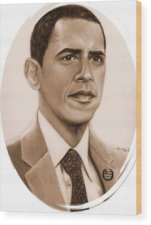 Barack Wood Print featuring the print One Of Unchartered Waters by Carliss Mora