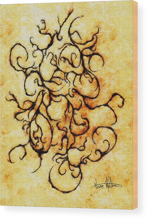 Squiggly Wood Print featuring the digital art Parchment by Nathaniel Hoffman