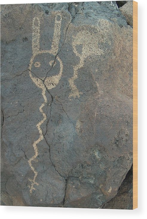 Petroglyph Wood Print featuring the photograph Petroglyph Series 1 by Tim McCarthy