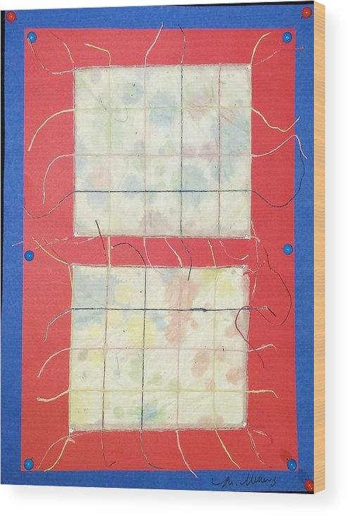 Mixed Media Wood Print featuring the drawing Pull A Thread And See What Happens by Martha Wherry