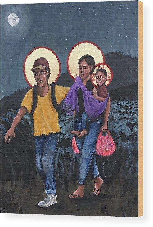 Refugees La Sagrada Familia by Kelly Latimore
