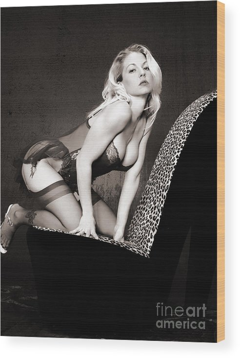 Clay Wood Print featuring the photograph Retro Pinup by Clayton Bruster