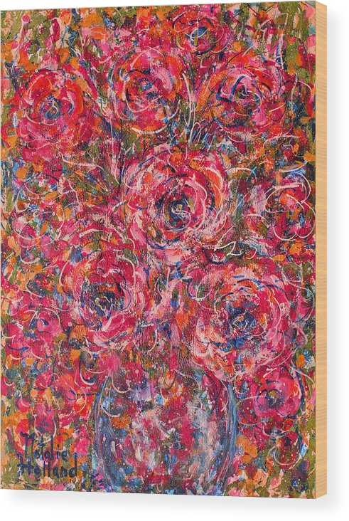 Flowers Wood Print featuring the painting Scented Pleasures by Natalie Holland