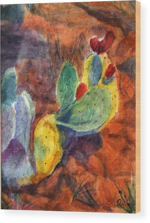 Landscape Wood Print featuring the painting Sedona I by Stephanie Allison