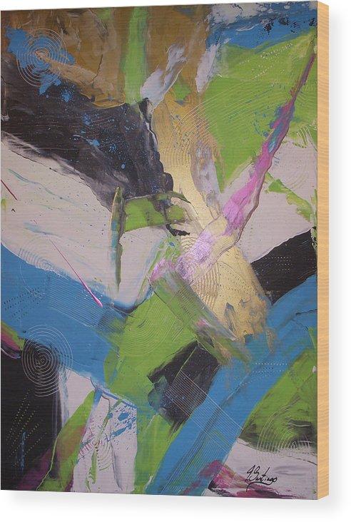 Original Wood Print featuring the painting Sentirme Vivo - To Feel Alive by Joey Santiago