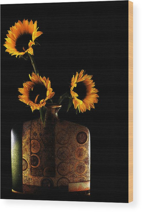 Sunflower Wood Print featuring the photograph Sunflower Galore by Lucian Badea