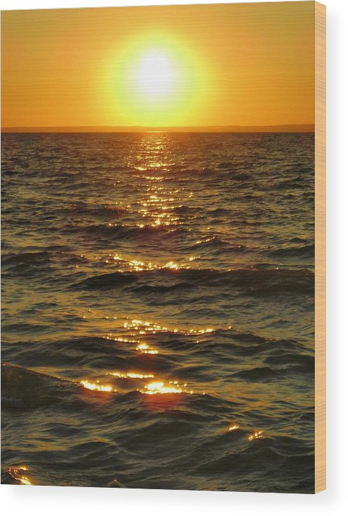 Sunset Wood Print featuring the photograph Sunset by Peter Mowry