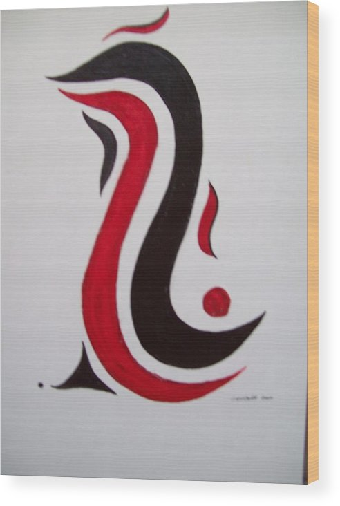 Abstract Free Form Wood Print featuring the painting The Good Life by Craig Lechman