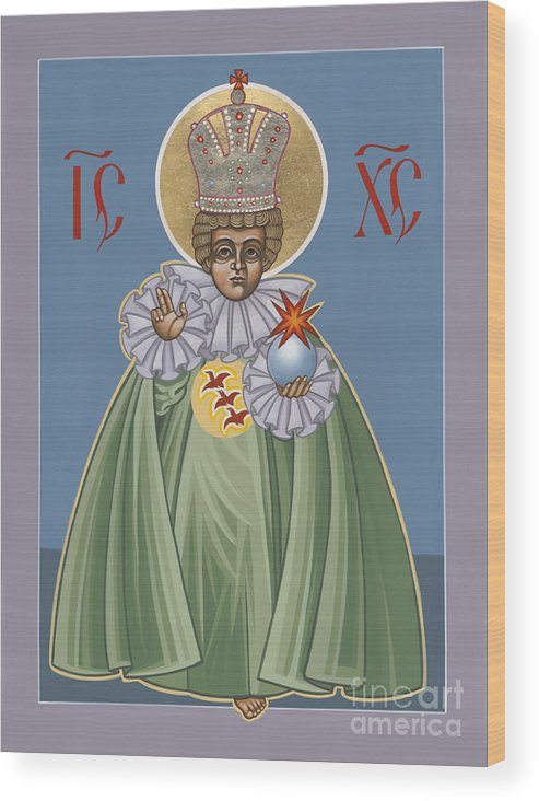 The Infant Of Prague Wood Print featuring the painting The Infant Of Prague 184 by William Hart McNichols