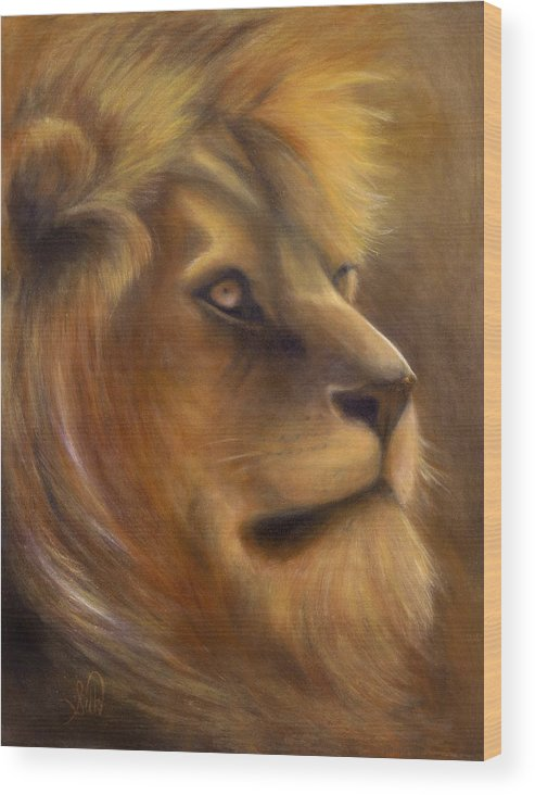 Regal Wood Print featuring the painting The King by Elizabeth Silk