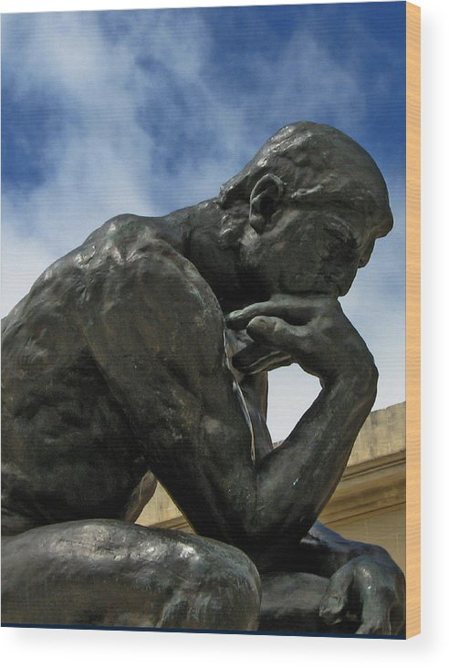 Thinker Wood Print featuring the photograph Thinker by Michael McFerrin