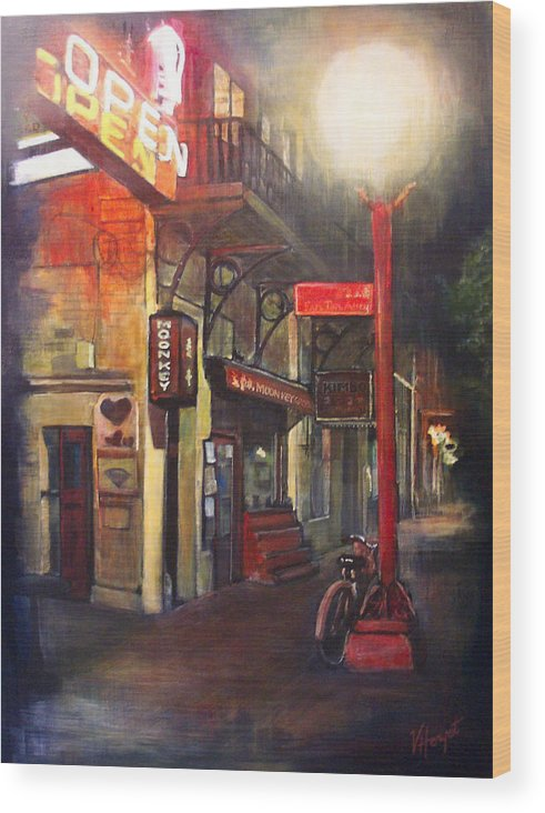 Chinatown Wood Print featuring the painting Upstairs At Mrs. Woos by Victoria Heryet