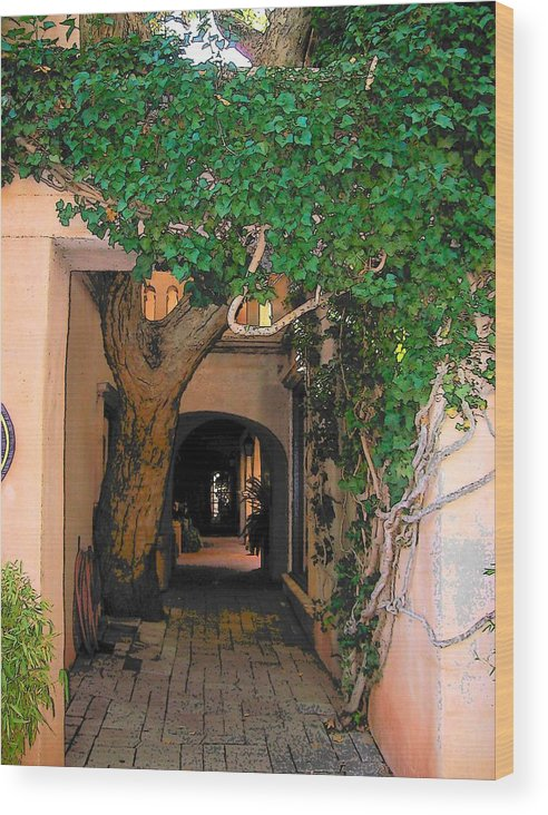 Sedona Wood Print featuring the photograph Walk Way by Leo Gordon