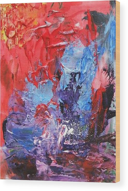 Water Wood Print featuring the painting Water Sport by Bruce Combs - REACH BEYOND