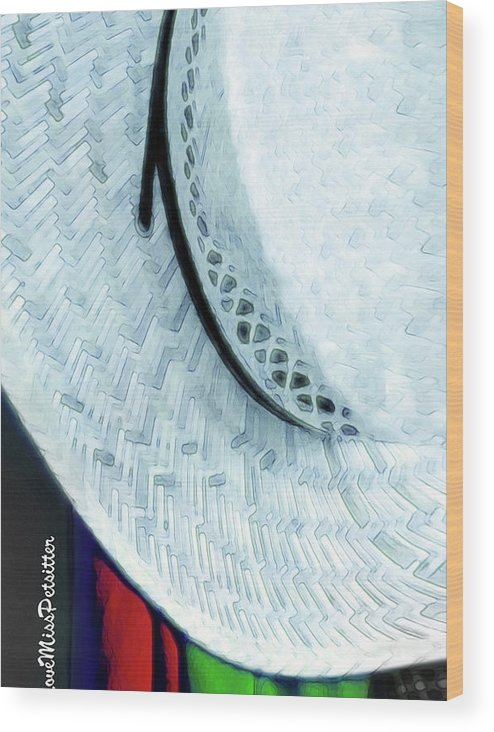 Art Wood Print featuring the digital art Hat Painting by Miss Pet Sitter