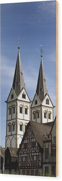 Steeple Wood Print featuring the photograph Steeples by Cecil Fuselier