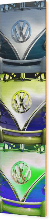 Botanical Wood Print featuring the photograph Vw Variations In Blue by Russ Bertlow