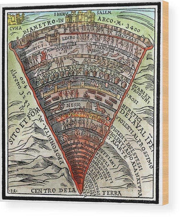 Dante S Inferno C1520 Wood Print