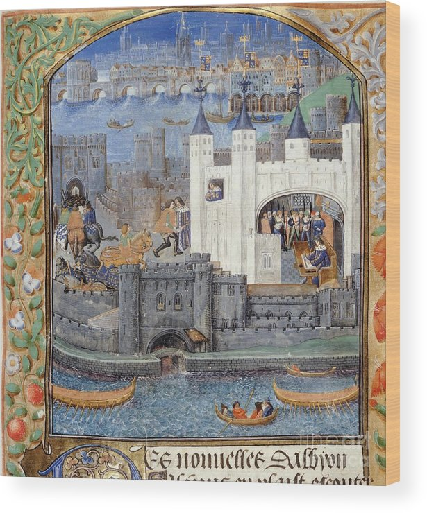 Duke Of Orleans Wood Print featuring the photograph Duke Of Orleans, Tower Of London, 1430s by British Library