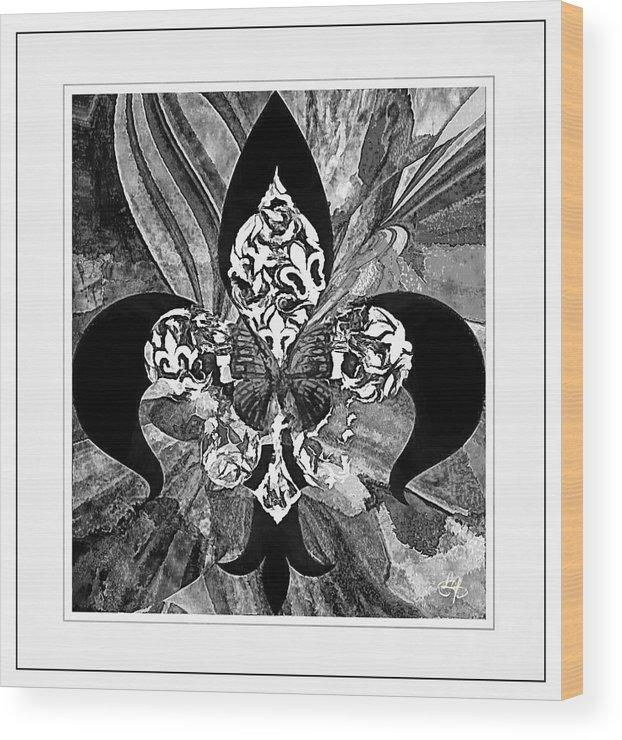 Flure De Lis Wood Print featuring the digital art Flure De Lis by Lynda Payton