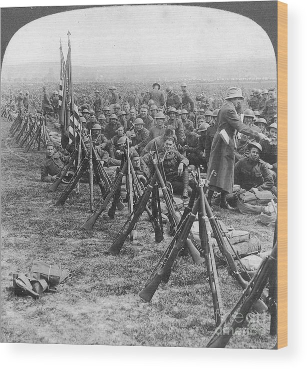 1919 Wood Print featuring the photograph World War I: U.s. Troops by Granger
