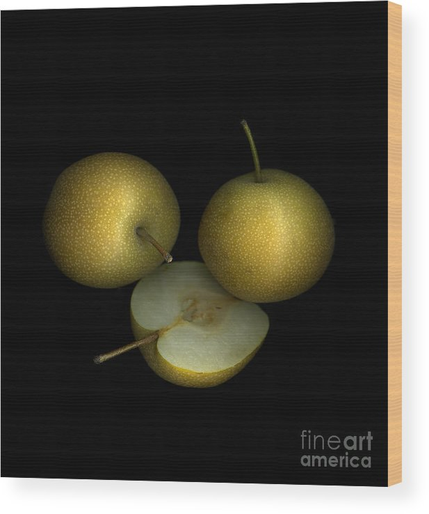 Culinary Wood Print featuring the photograph Asian Pears by Christian Slanec